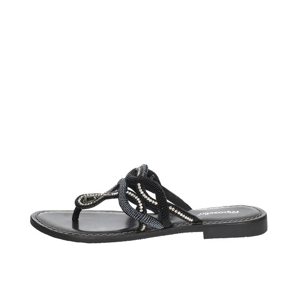 Riposella Shoes Flip Flops Black C334