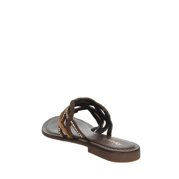Riposella Shoes Flip Flops Brown C339