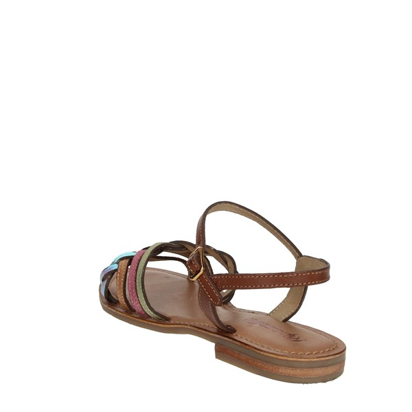 Riposella Shoes Sandals Brown leather C348