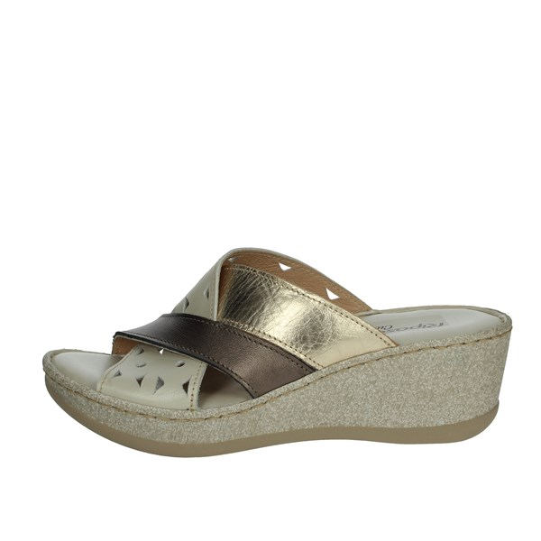 Riposella Shoes Clogs White/Gold C518