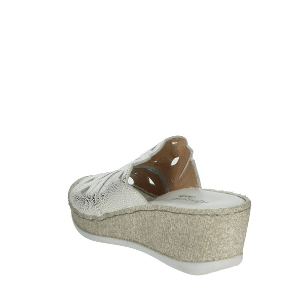 Riposella Shoes Clogs Silver C526