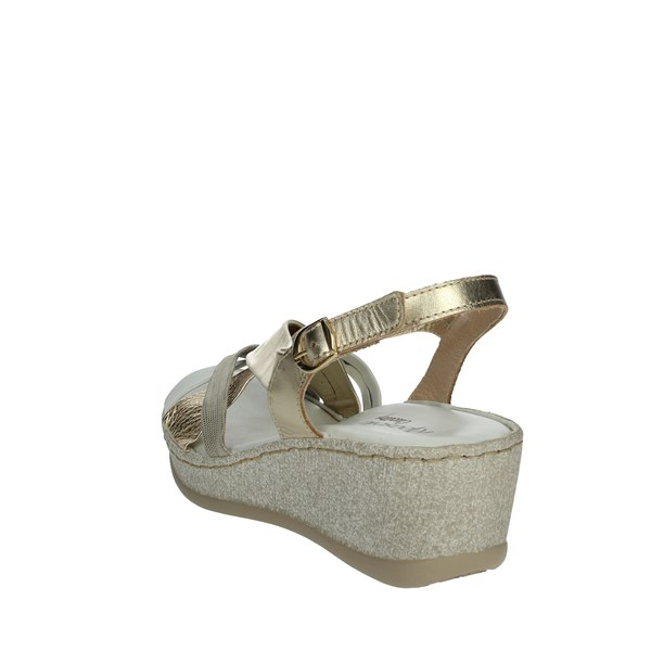 Riposella Shoes Sandals White/Gold C512