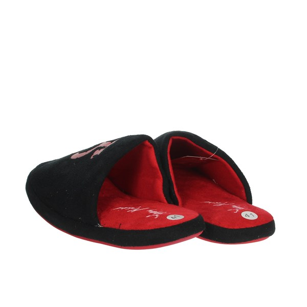Tommy Mikino Shoes Clogs Black/Red 87326