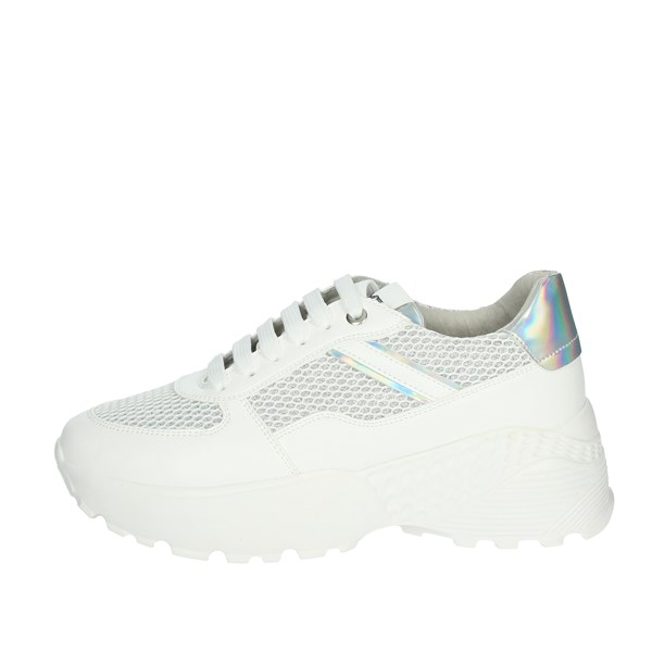 Keys Shoes Sneakers White/Silver K-1501