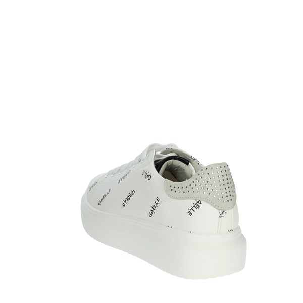 Gaelle Paris Shoes Sneakers White/Black G-204