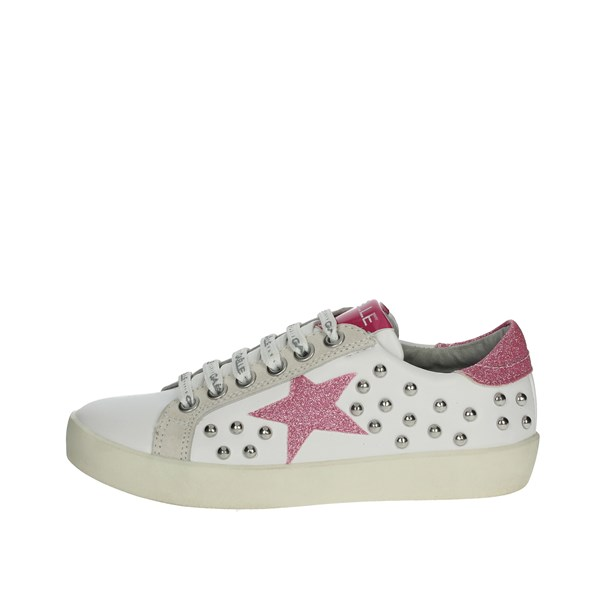 Gaelle Paris Shoes Sneakers White/Fuchsia G-142