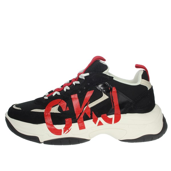 Calvin Klein Jeans Shoes Sneakers Black/Red B4S0651