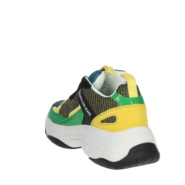 Calvin Klein Jeans Shoes Sneakers Green/Yellow S0592