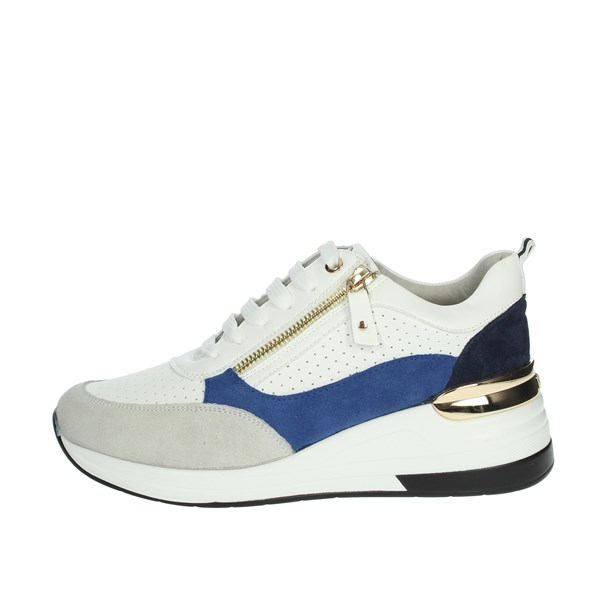 Keys Shoes Sneakers White/Blue K-1002