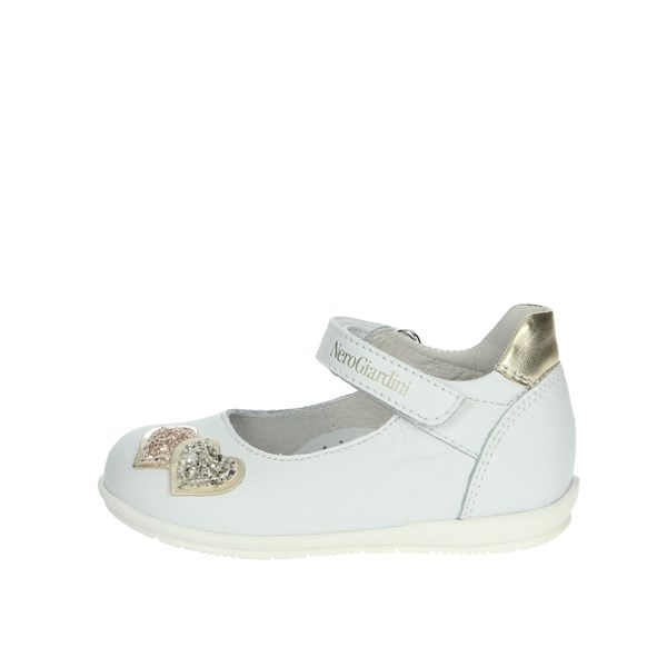 Nero Giardini Shoes Ballet Flats White/Gold E021300F