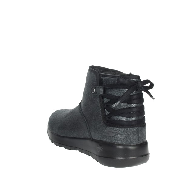 Skechers Shoes Ankle Boots Black 16602