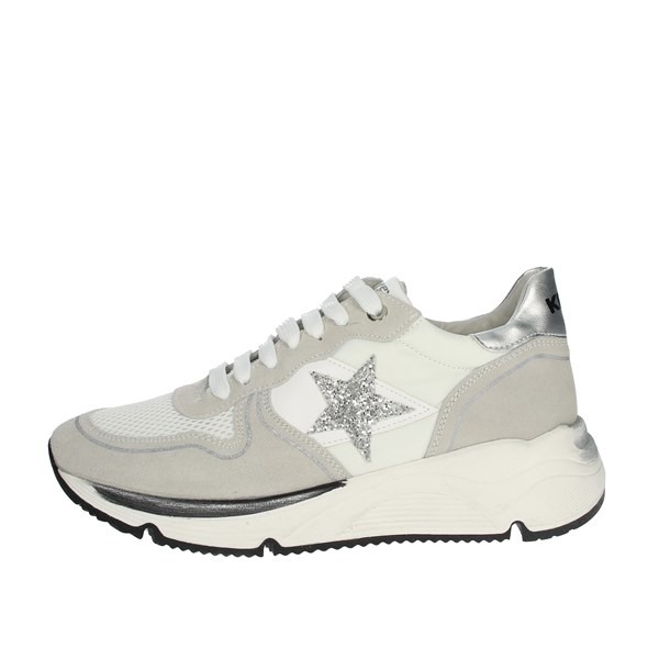 Keys Shoes Sneakers White/Silver K-1650