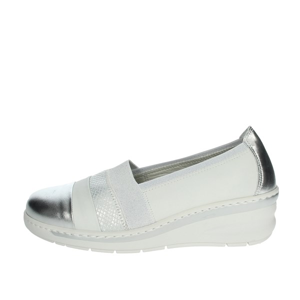 Notton Shoes Moccasin White/Silver 2408