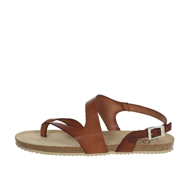 Yokono Shoes Sandals Brown leather GENOVA-500
