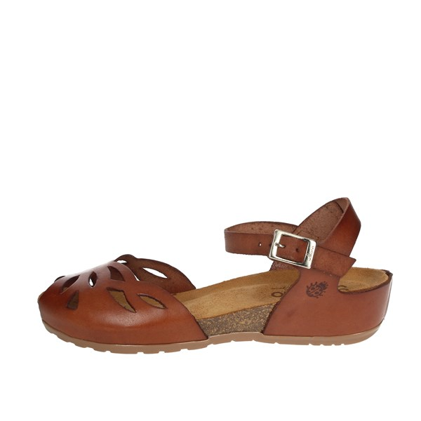Yokono Shoes Sandals Brown leather CAPRI-003