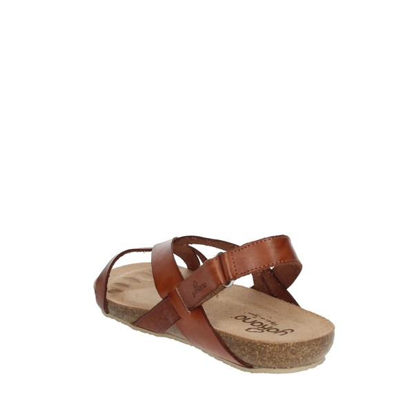 Yokono Shoes Sandals Brown leather IBIZA-718
