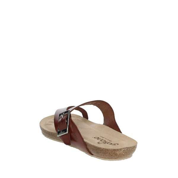 Yokono Shoes Sandals Brown leather IBIZA-013