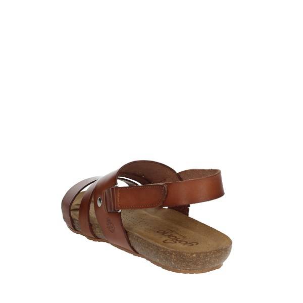 Yokono Shoes Sandals Brown leather BEACH-140