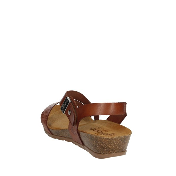 Yokono Shoes Sandals Brown leather CAPRI-042