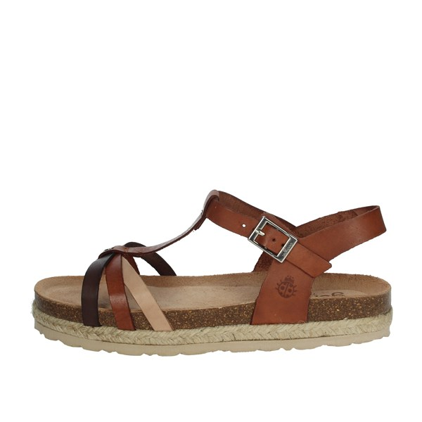 Yokono Shoes Sandals Brown leather JAVA-063