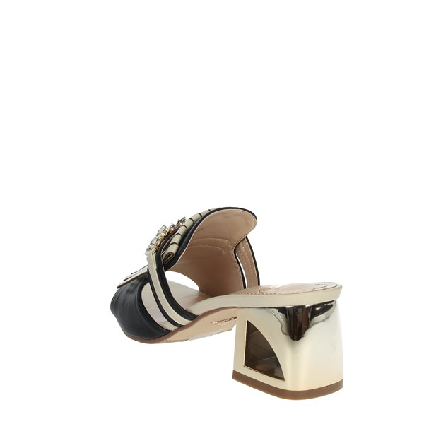 Laura Biagiotti Shoes Clogs Black/Beige 6007