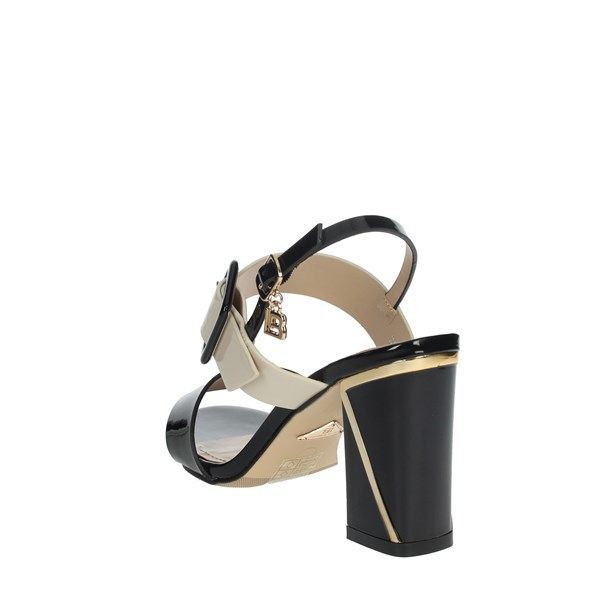 Laura Biagiotti Shoes Sandals Black/Beige 6138