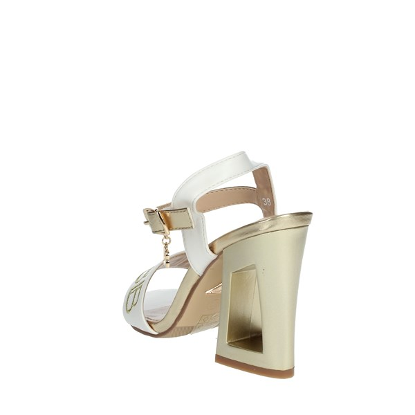 Laura Biagiotti Shoes Sandals White/Gold 6298