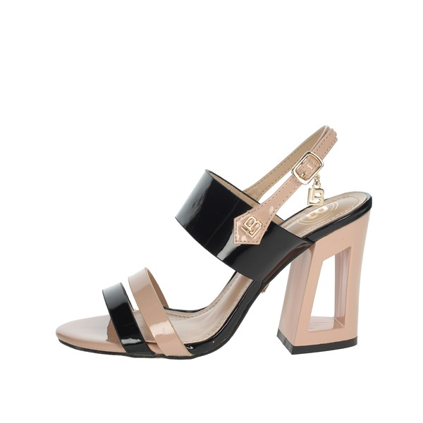 Laura Biagiotti Shoes Sandals BLACK / POWDER 6296