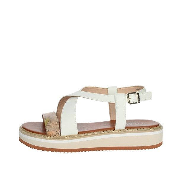 Alviero Martini Shoes Sandals Beige/White 0589-0326
