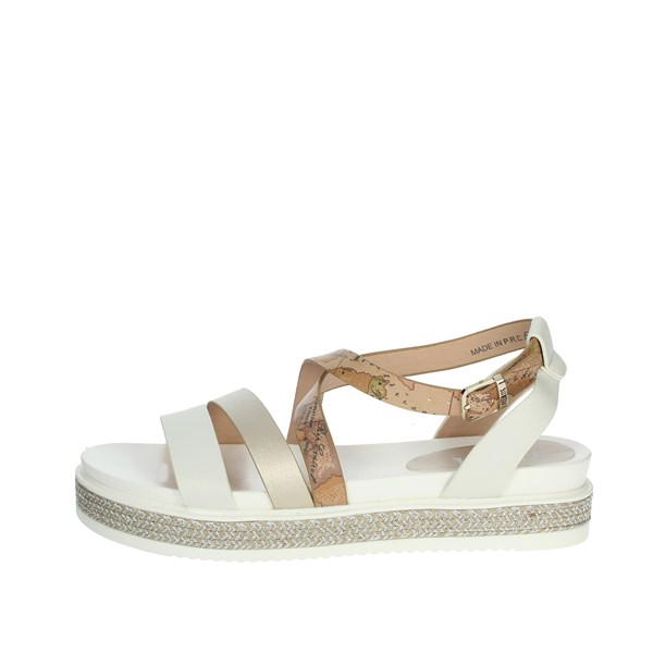 Alviero Martini Shoes Sandals White/Gold 0578-0326