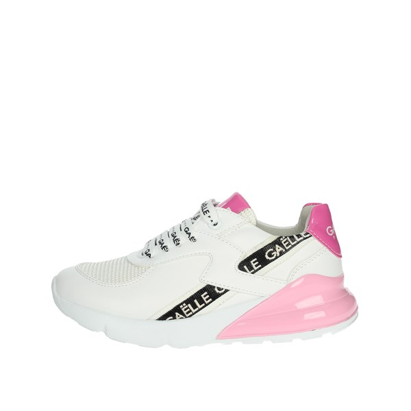 Gaelle Paris Shoes Sneakers White/Pink G-180