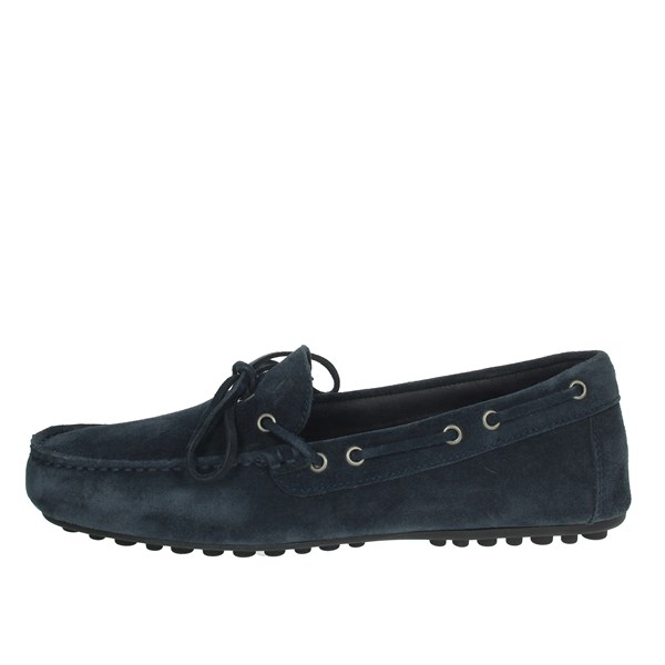 Frau Shoes Moccasin Blue 3152
