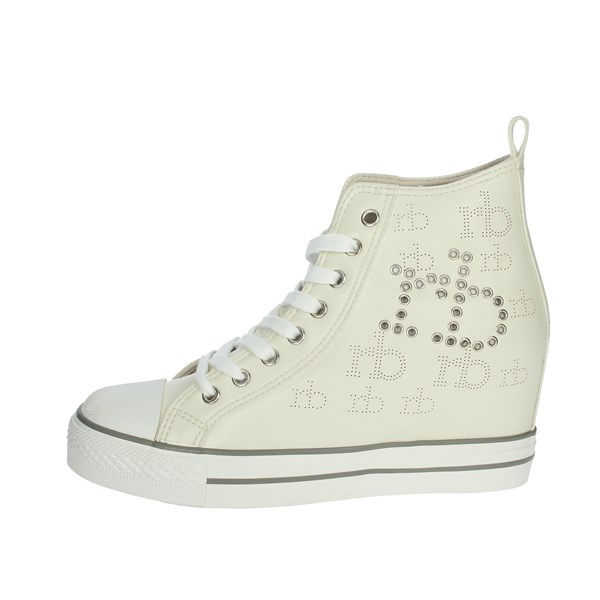 Roccobarocco Shoes Sneakers Creamy white RBSC3WM01