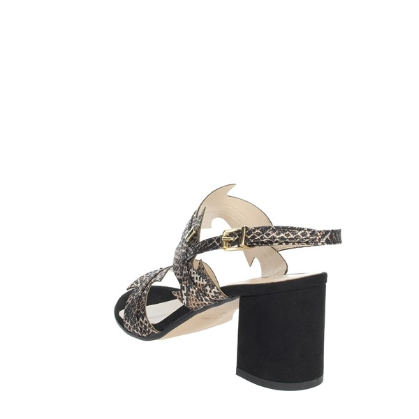 Valleverde Shoes Sandals Black/Gold 28250