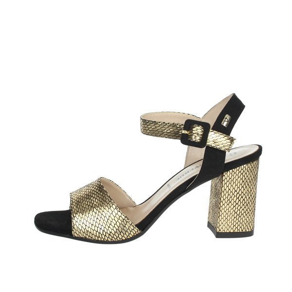 Valleverde Shoes Sandals Gold/black 28261
