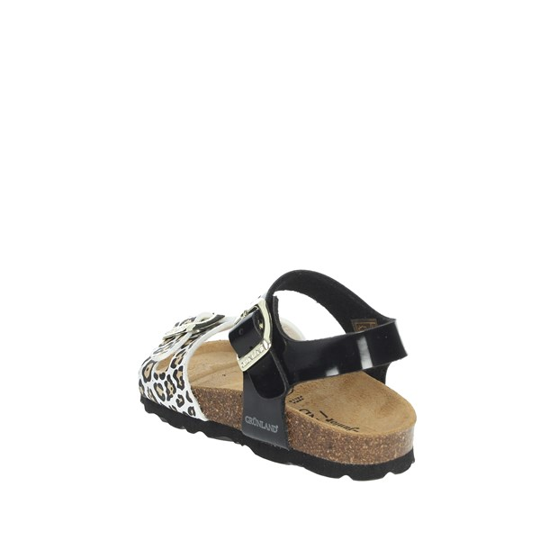 Grunland Shoes Sandals Black/White SB1525-40
