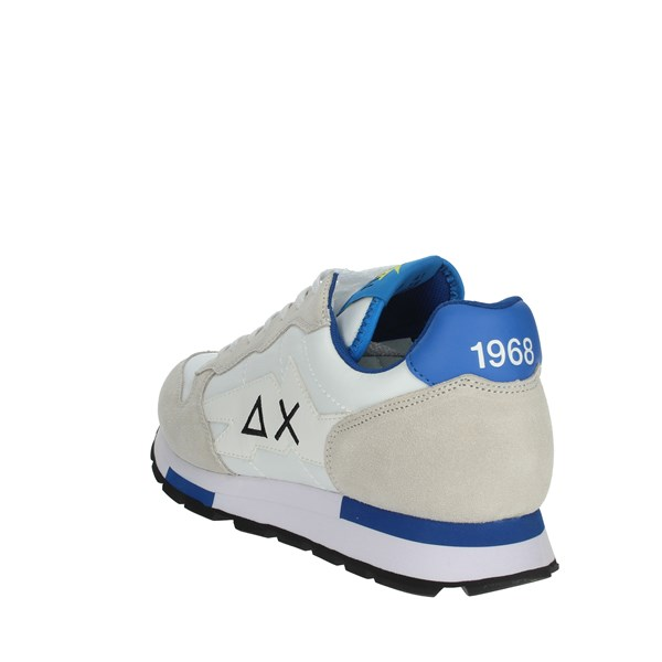Sun68 Shoes Sneakers White/Light Blue Z30102