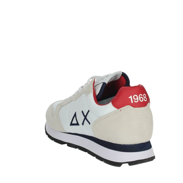 Sun68 Shoes Sneakers White/Red Z30101