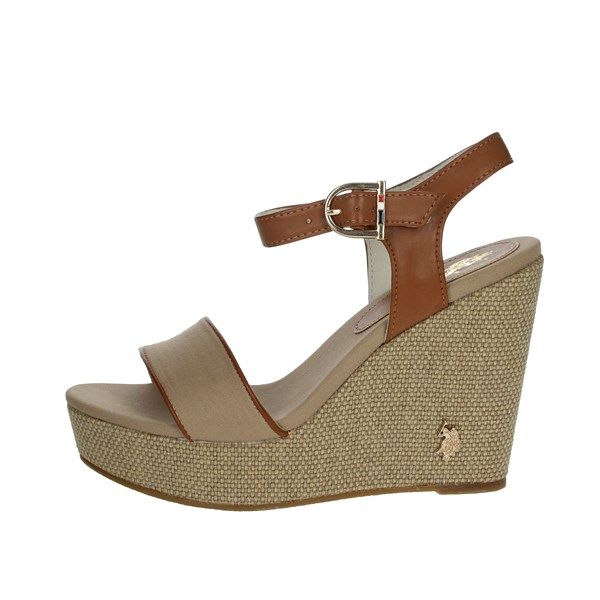 U.s. Polo Assn Shoes Sandals Brown Taupe AYLIN4204S0