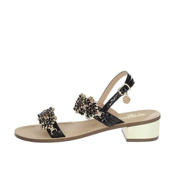 Gold & Gold Shoes Sandals Black/Gold GL538