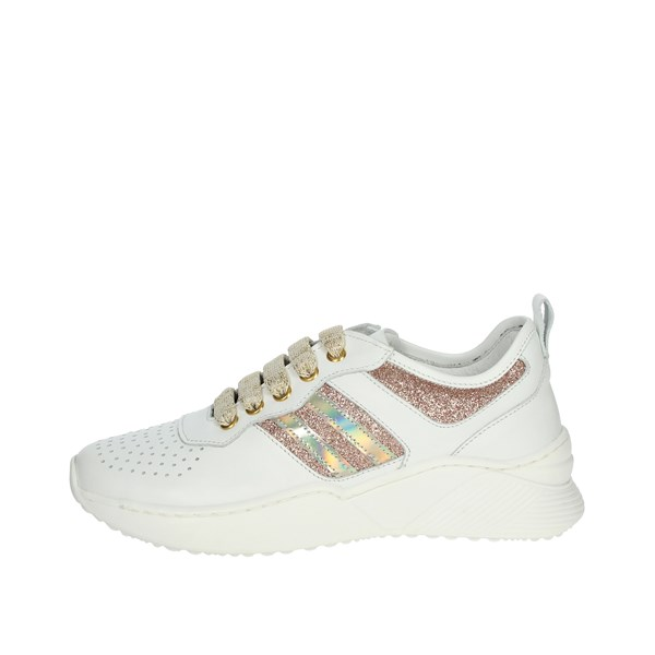 Le Petit Bijou Shoes Sneakers White/Gold C1