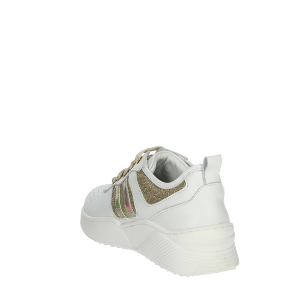 Le Petit Bijou Shoes Sneakers White/Gold C8