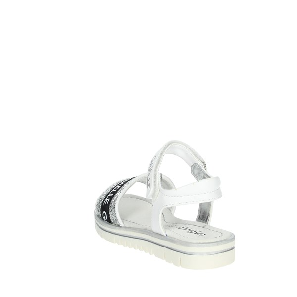 Gaelle Paris Shoes Sandals White/Silver C-321