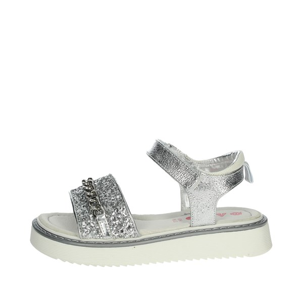 Asso Shoes Sandals Silver AG-6705