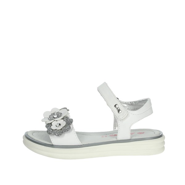 Asso Shoes Sandals White/Silver AG-7306