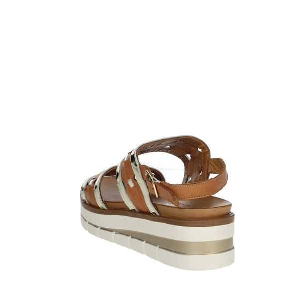 Grünland Shoes Sandal Brown leather SA2541-I8