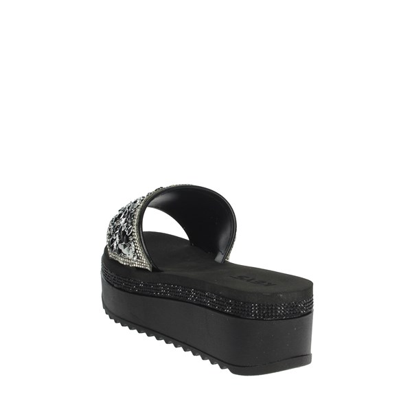Keys Shoes Clogs Black K-1770