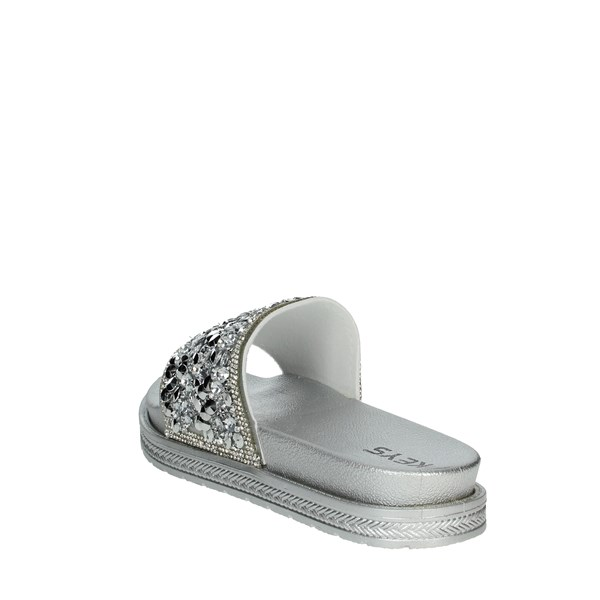 Keys Shoes Clogs Silver K-1750