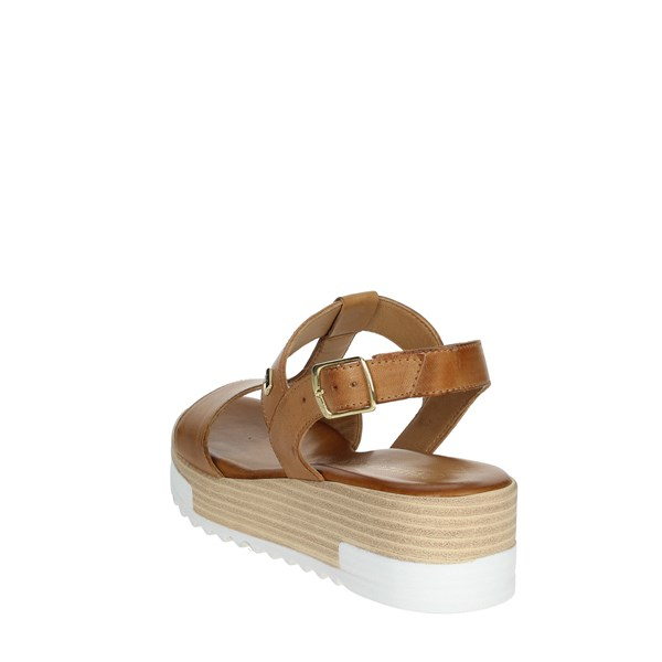 Valleverde Shoes Sandals Brown leather 16051