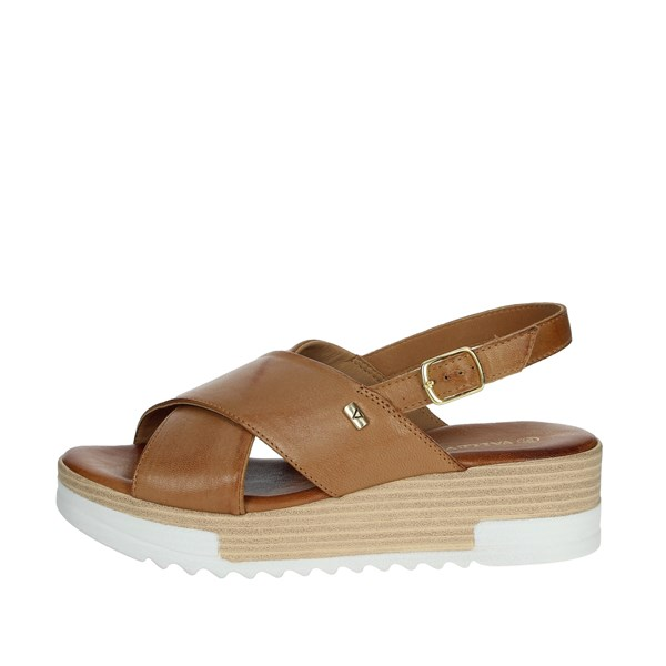 Valleverde Shoes Sandals Brown leather 16050